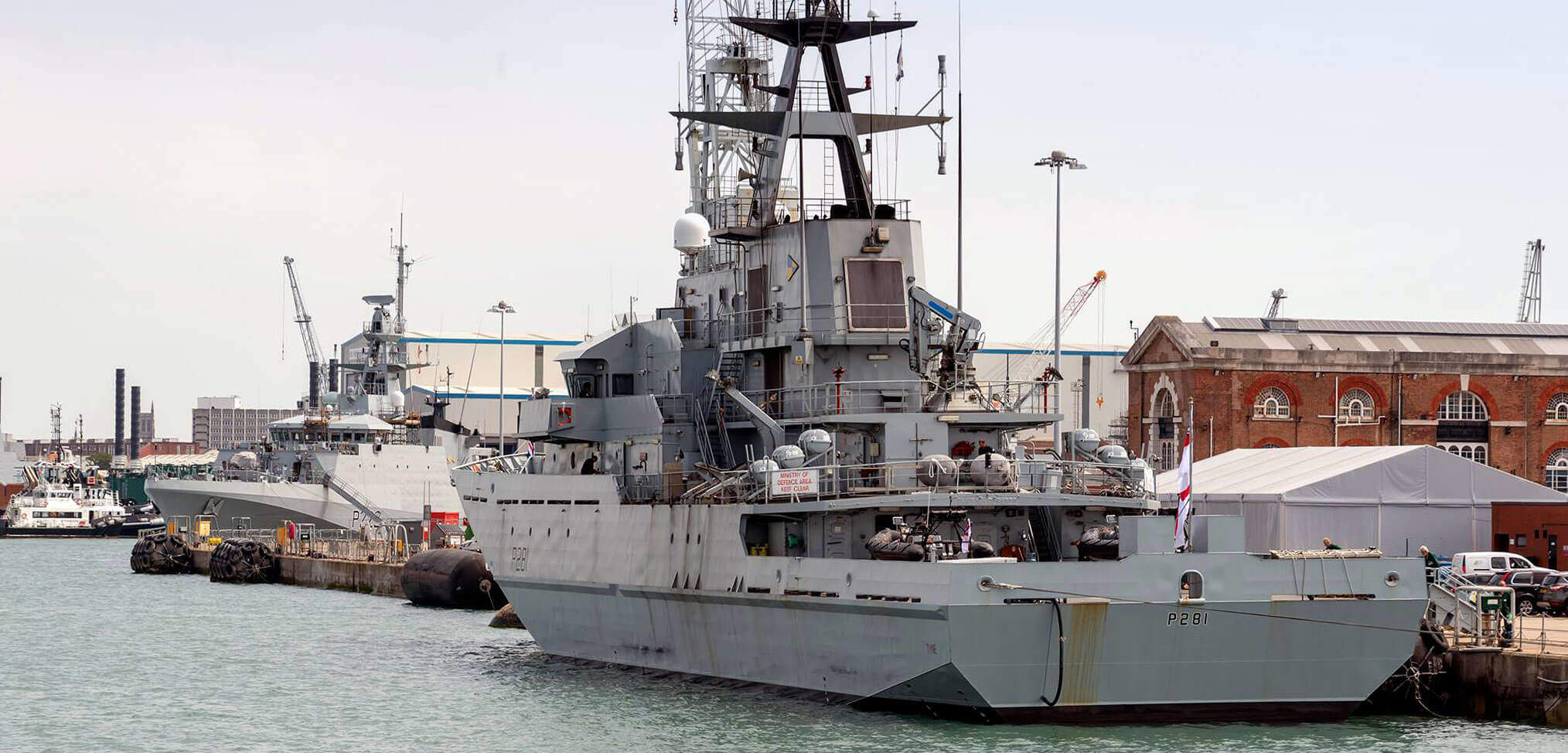 HMS Tyne and HMS Forth in Portsmouth