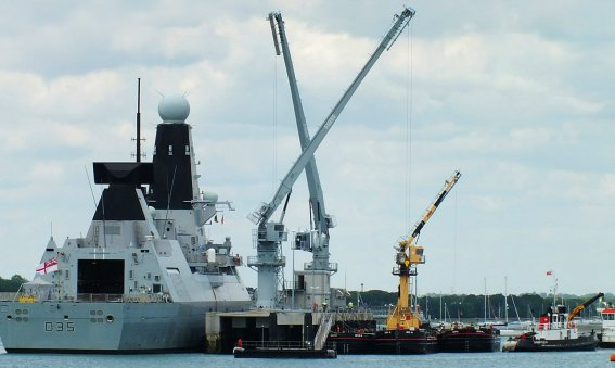 HMS Dragon Upper Harbour Ammunitioning Facility Portsmouth