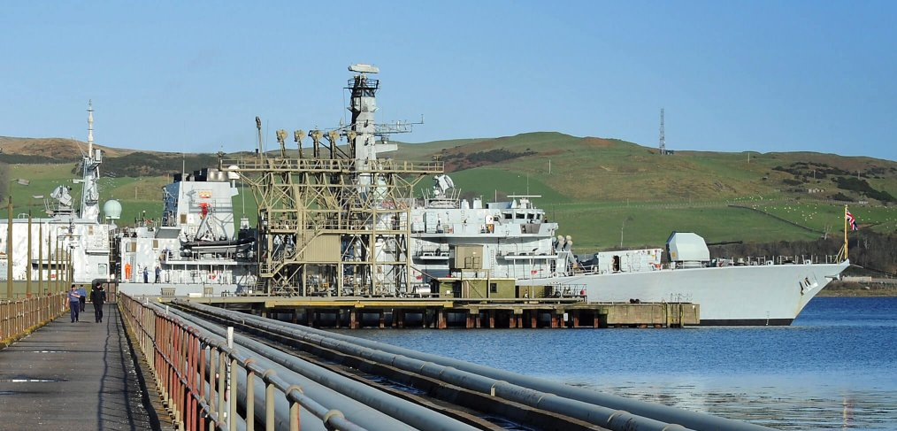 HMS Iron Duke Campbeltown Oil Fuel Jetty