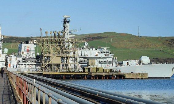HMS Iron Duke Campbeltown Oil Fuel Jetty