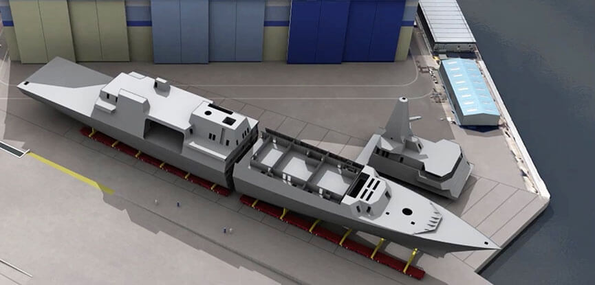 Type 26 Frigate construction Glasgow