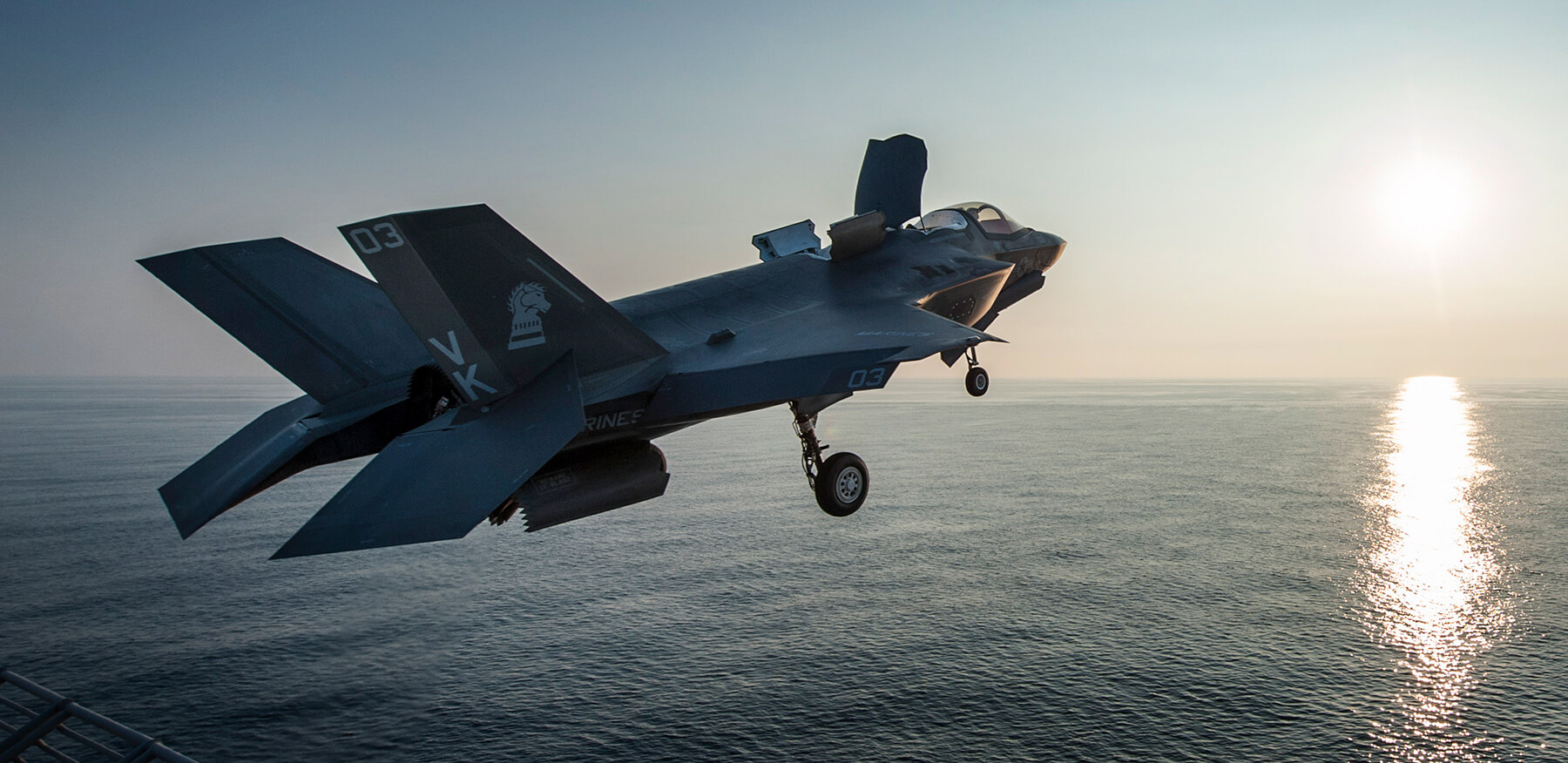 US Marine Corps F-35B take off