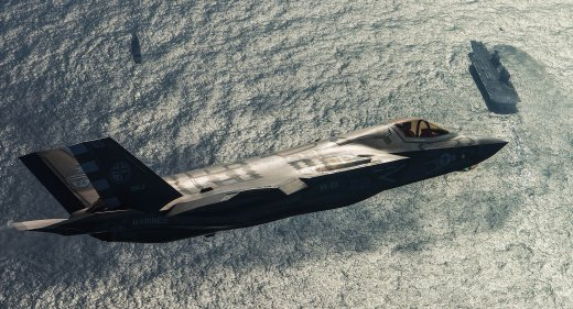 F-35 over HMS Queen Elizabeth