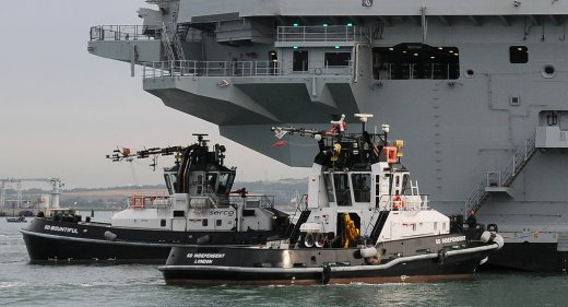 Serco tugs assist HMS Queen Elizabeth