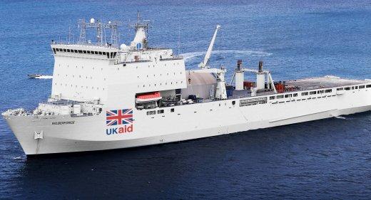 British Hospital ship UK Aid
