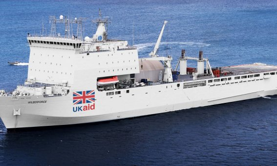 British Hospital ship UK Aid