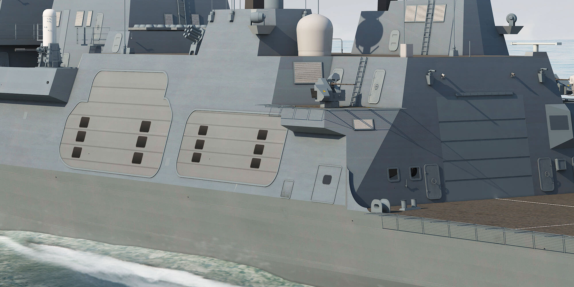 Type 26 Frigate Port Quarter