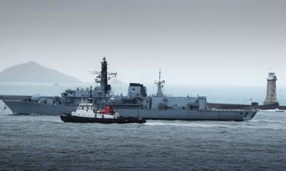 HMS Argyll Plymouth Breakwater