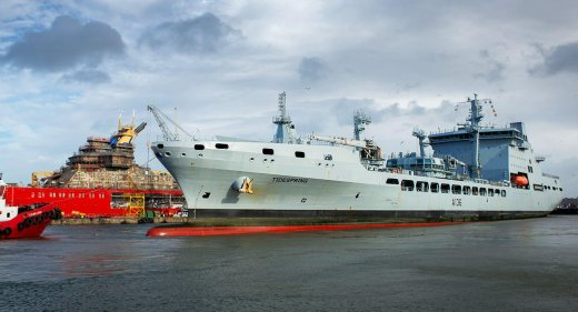 RFA Tidespring Arrives at Cammel-Laird
