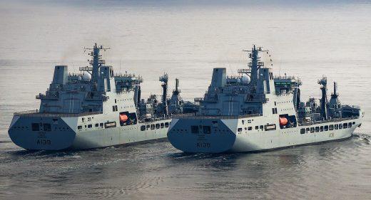 RAF Tideforce RFA Tidesurge RFA Fort Victoria