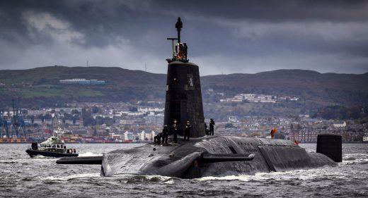 Royal Navy Vanguard class submarine
