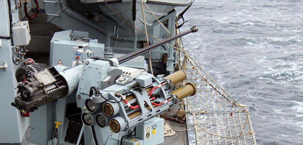 Royal Navy test-fires ship-mounted Martlet Lightweight Multi