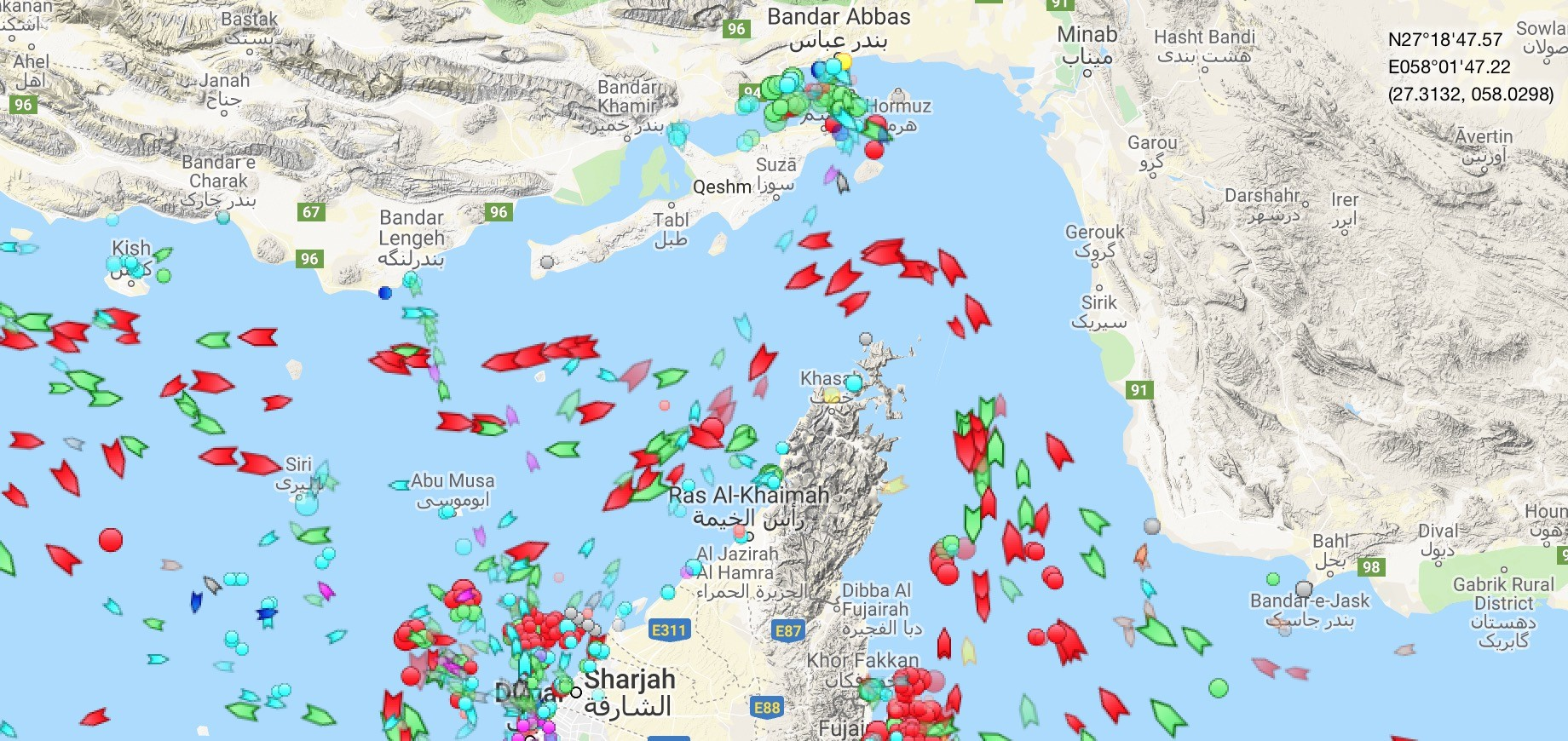 Strait of Hormuz Traffic