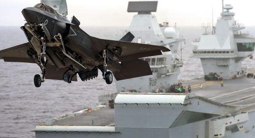 HMS Queen Elizabeth F35-B launch