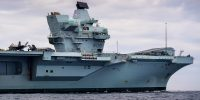 HMS Queen Elizabeth sails for the US where she will embark UK-owned Jets for the first time