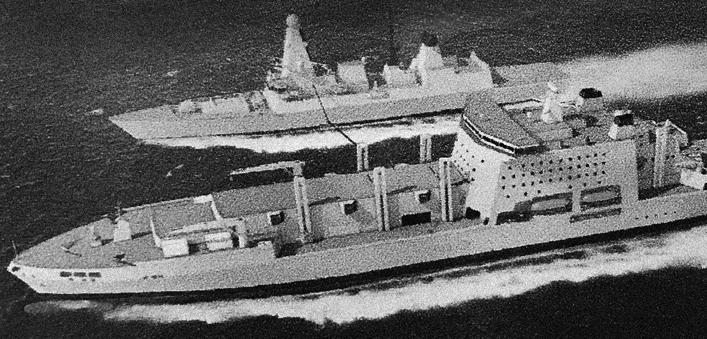 Fleet Solid Support Ship RAS Type 45 destroyer