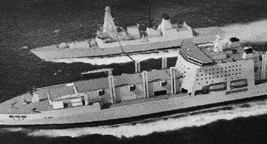Fleet Solid Support Ship RAS Type 45 destroyer