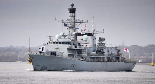 HMS Sutherland leaving Portsmouth