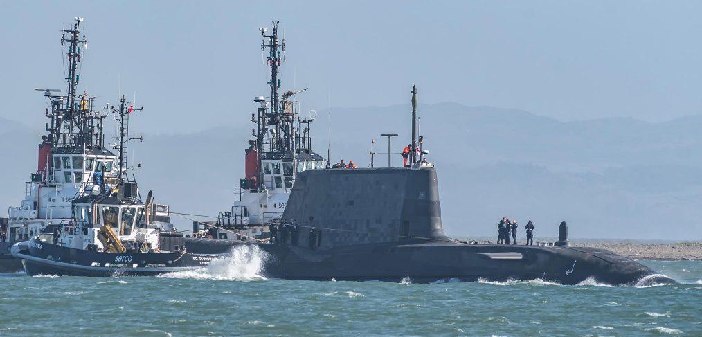 HMS Audacious leaves Barrow