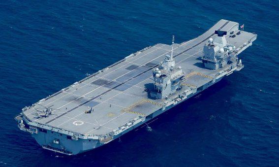 HMS Queen Elizabeth at anchor June 2019