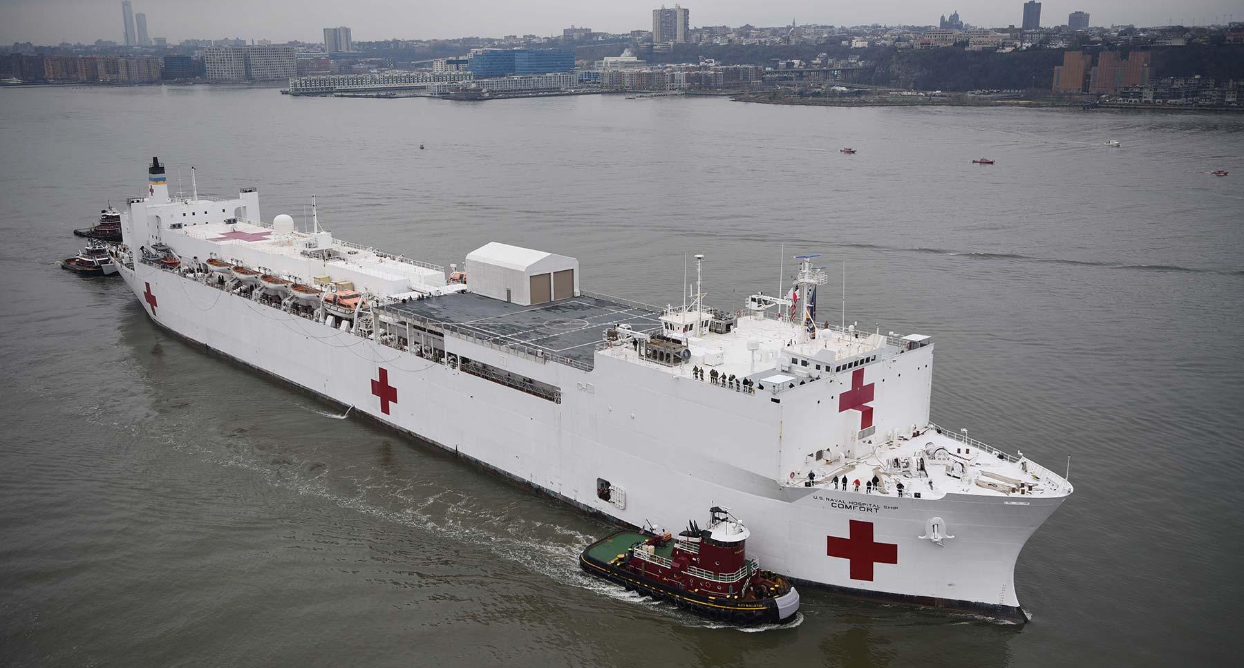 Hospital ship USNS Comfort New York