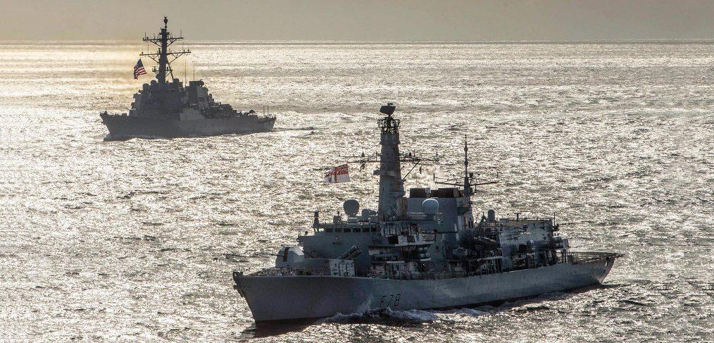 HMS Kent Barents Sea