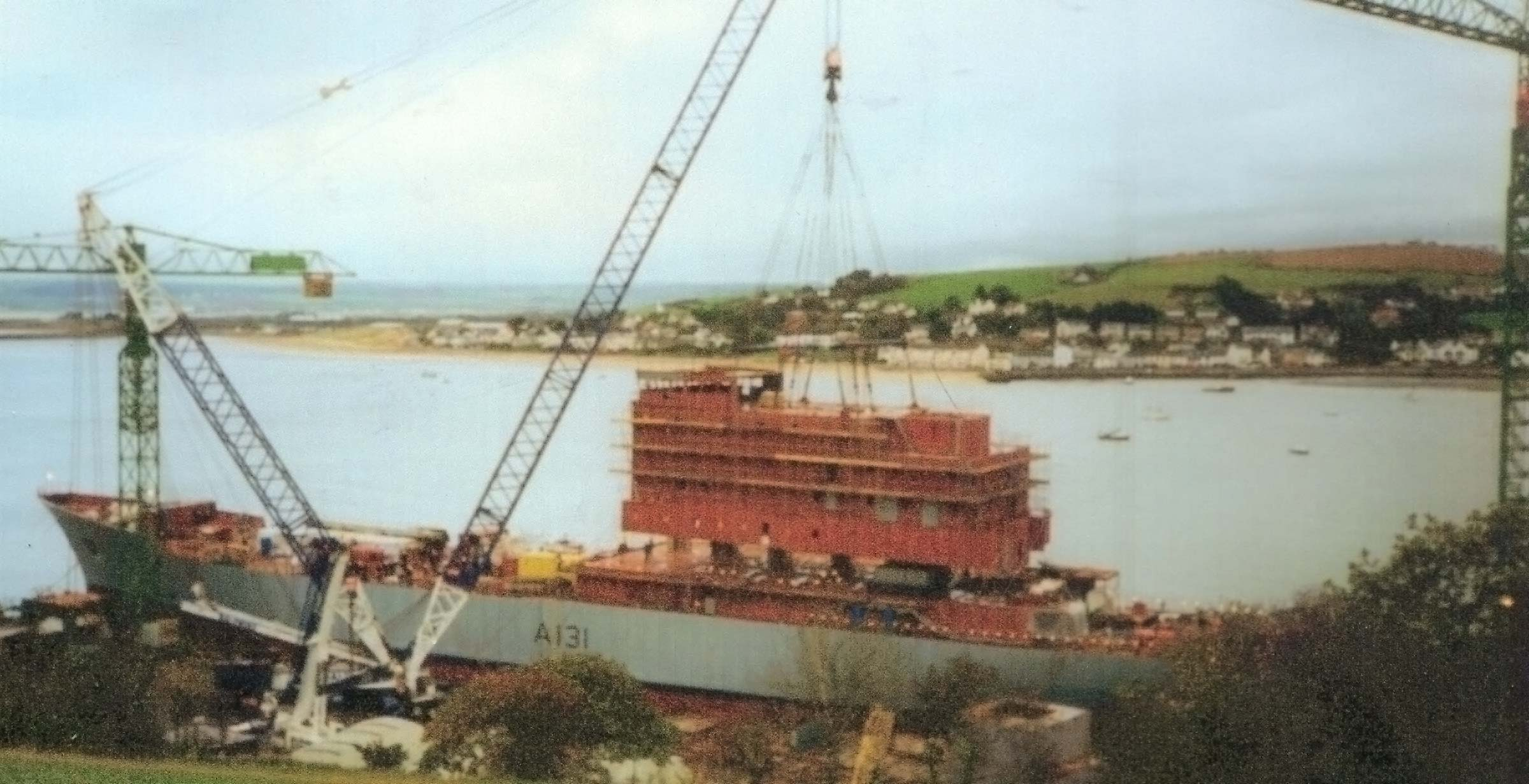 HMS Scott fitting out Appledore