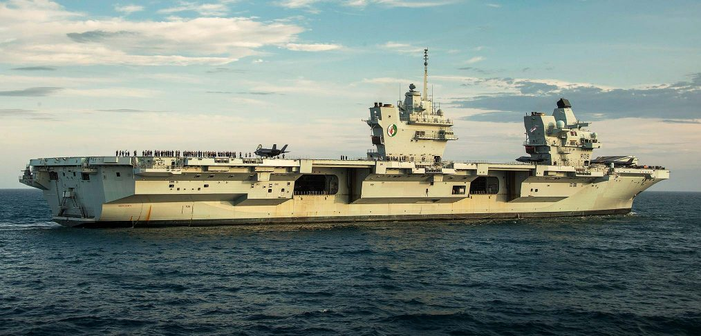 HMS Queen Elizabeth in the North Sea