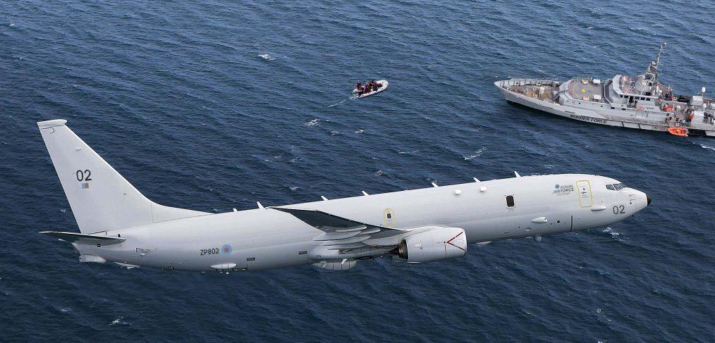 RAF Poseidon Migrants English Channel
