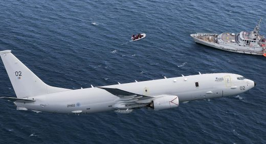 RAF Poseidon Migrants English Channel