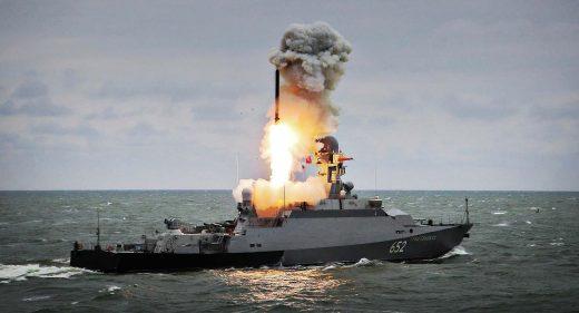 Russsian Corvette fires Kalibr Missile