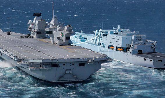 Fleet Soild Support Ship concept and HMS Queen Elizabeth